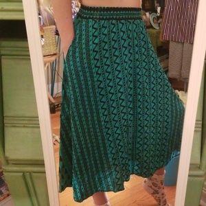 VTG 80s Abstract Highwaist Circle Kenya Skirt